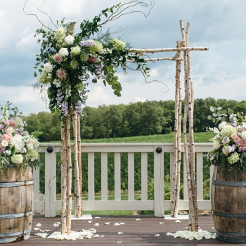 VALERIE & KEVIN Summer pastel garden wedding in Niagara Wine Country