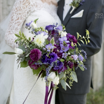 JESSICA & BOBBY Autumn Wedding with Purples and Rambling foliage in Niagara Wine Country